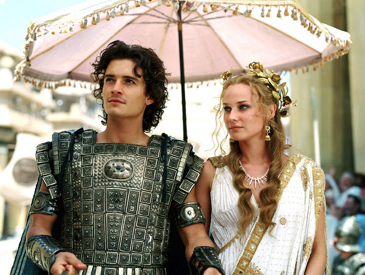 "Paris (Orlando Bloom) and Helen (Diane Kruger) in ""Troy"" (2004) 