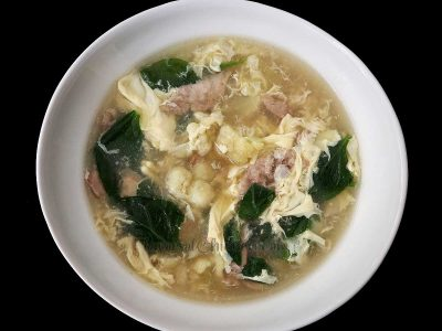How to Cook Egg Drop Soup with Chicken Cauliflower and Spinach