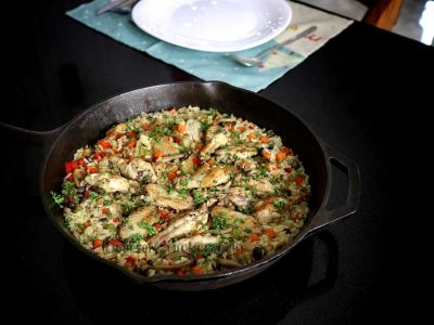 One-pot Chicken Mushroom Rice Casserole
