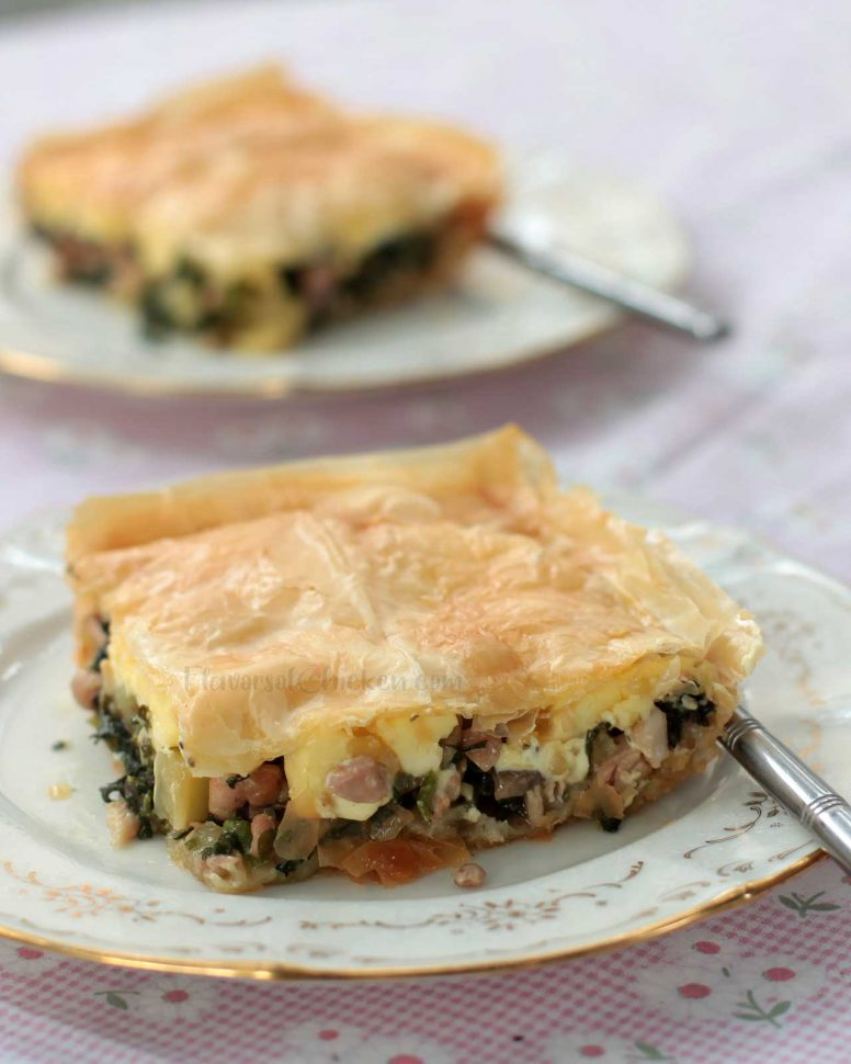 Sliced Chicken Mushroom Spinach Pot Pie