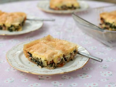 Chicken Mushroom Spinach Pot Pie