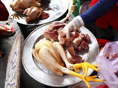 Fresh chicken in Cu Chi Market, Vietnam