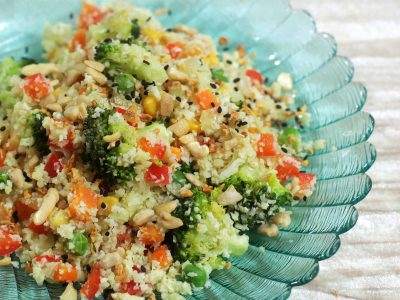 "Cauliflower ""Fried Rice"" With Nuts"