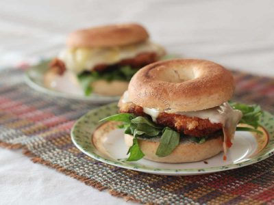 Cheesy Fried Chicken Sandwiches