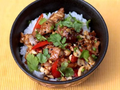 Chili Peanut Sesame Chicken Recipe