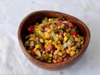 Corn and Bean Salad With Avocado and Pineapple