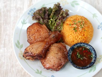 Guam-style Grilled Chicken with Annatto Rice