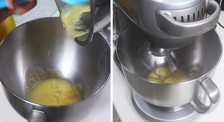Making Hollandaise sauce in a stand mixer