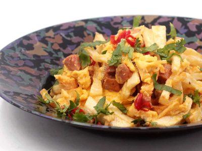 Revuelto Gramajo (fried potatoes and eggs)