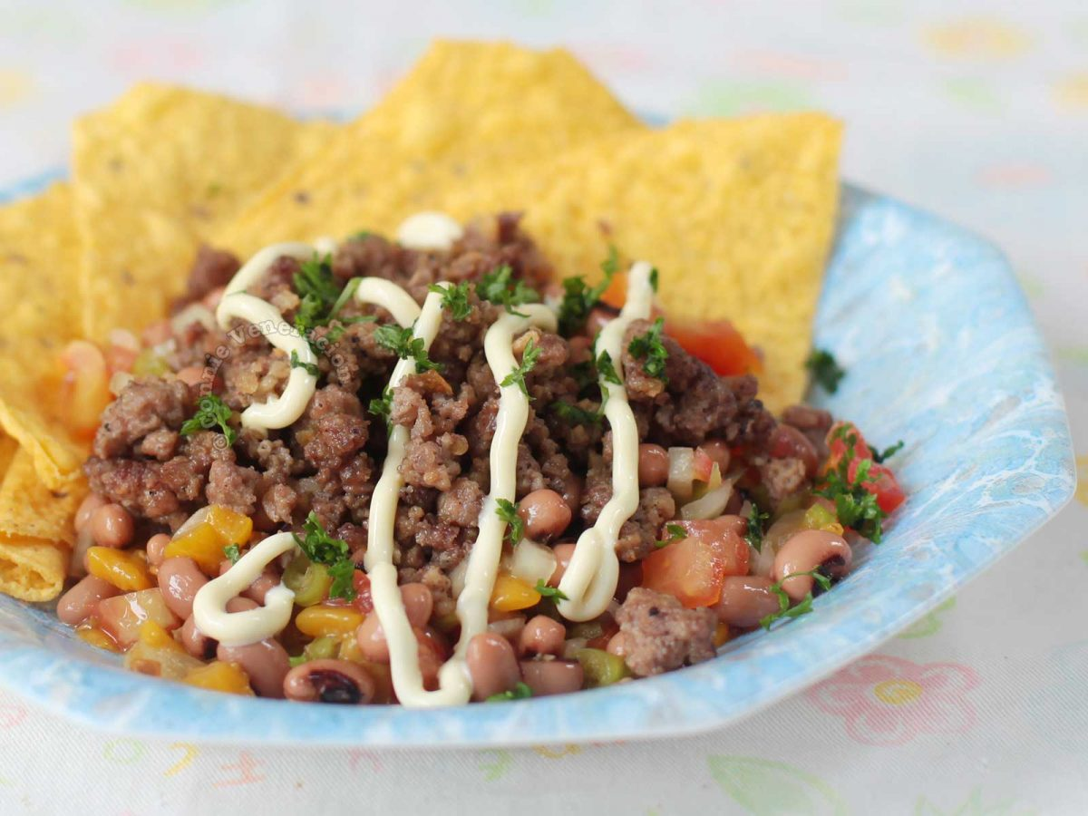 Beef and Bean Salad with Tortilla Chips