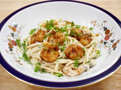 How to Cook Cajun Shrimp and Mushroom Spaghetti