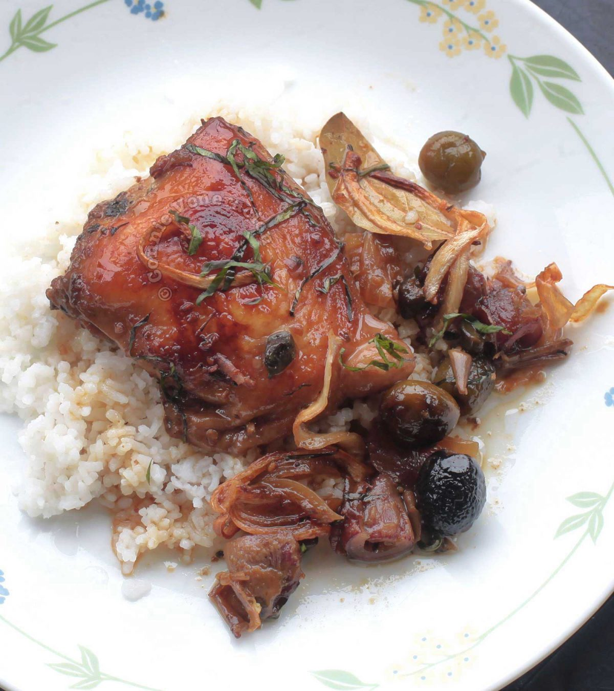 Chicken Marbella with dates, olives and capers
