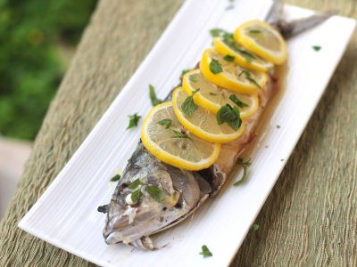 Mackerel Poached in Olive Oil