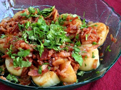 Easy Pan-fried Scallops with Bacon Recipe