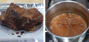 Reducing BBQ sauce on stove top