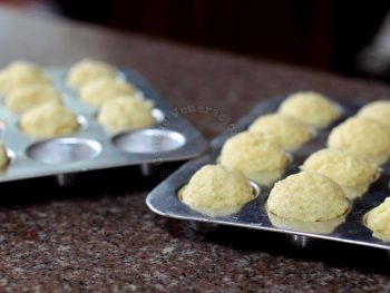 Plain muffins in pan