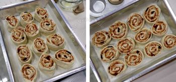 Unbaked pizza rolls