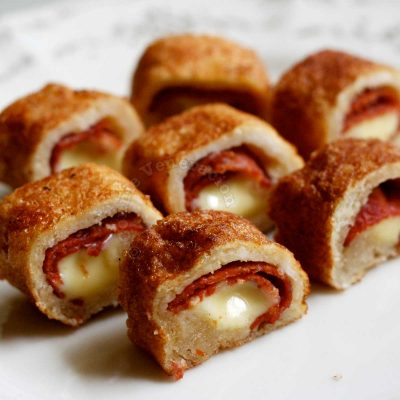 Pepperoni and Cheese French Toast Roll-ups