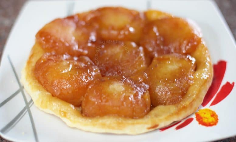 Tarte Tatin after inverting from pan