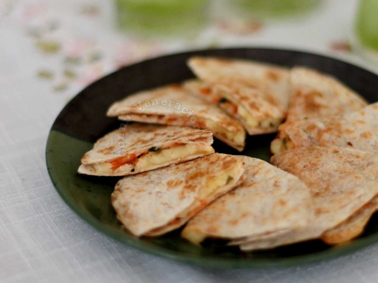 Tomato and Basil Quesadillas