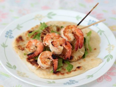 Chili Lime Shrimp Skewers