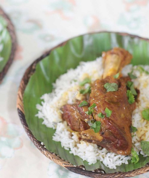 Lamb Shank Curry Served Over Rice