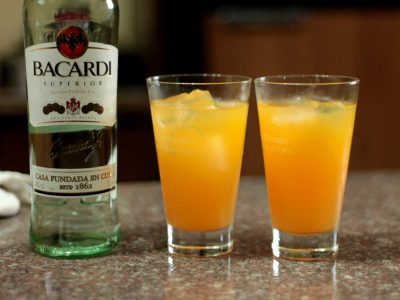 Orange, Pineapple and Rum Cocktail
