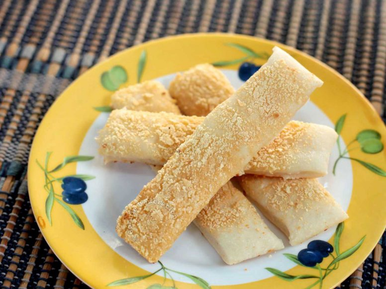 Garlic Parmesan Bread Sticks on a Plate