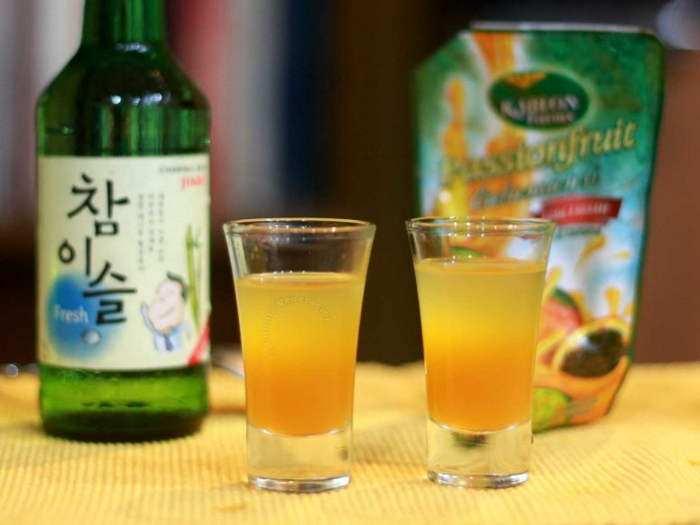 Soju and Passionfruit Cocktail