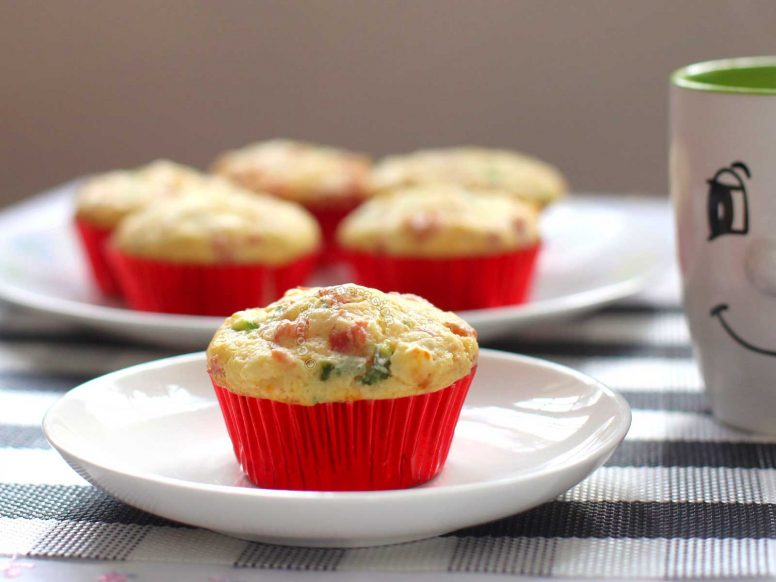 Bacon and Asparagus Muffins