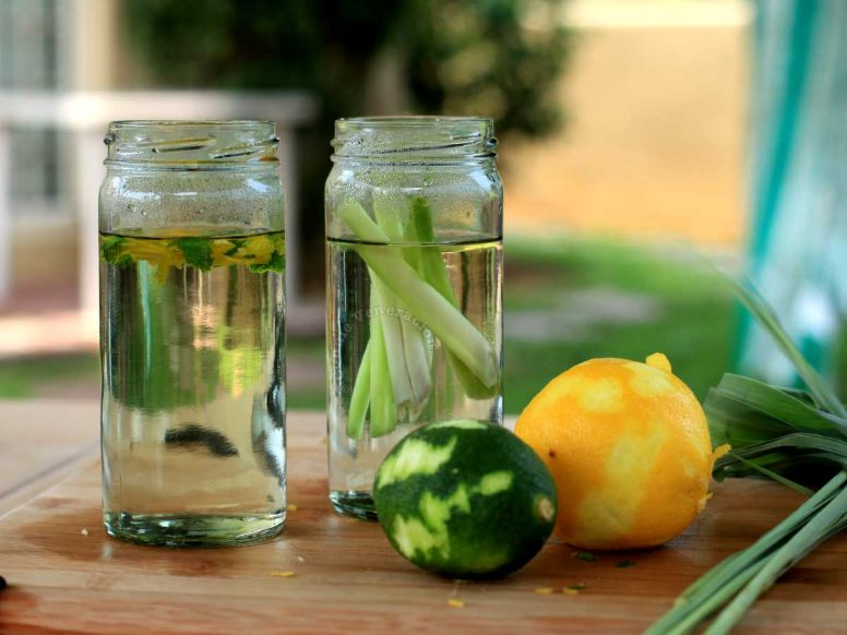 Citrus zest infused simple syrup