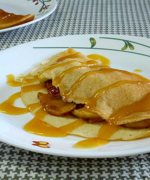 Crepes with Apples and Salted Caramel