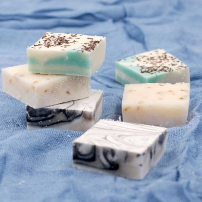Bath soap made with coconut oil