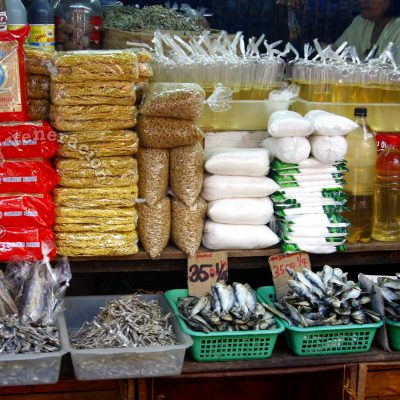 A typical market stall in the Philippines