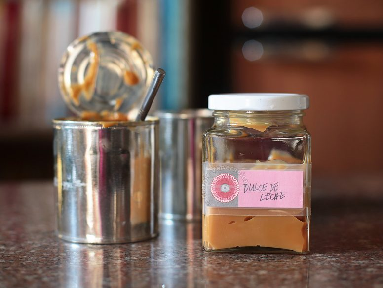 Re-using empty jar and attaching a new label