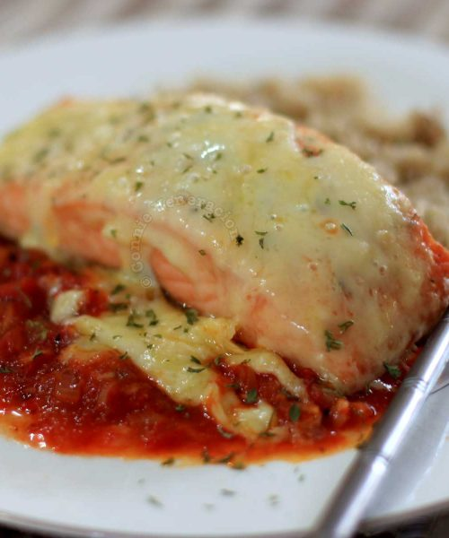 Easy Cheesy Broiled Salmon