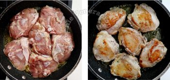 Browning chicken in butter