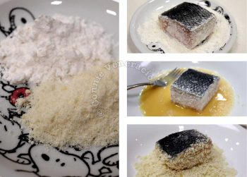 Prepping fish fillet for salmon piccata