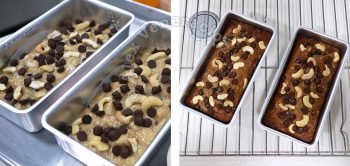 Banana bread (come on, it's a cake) before and after baking