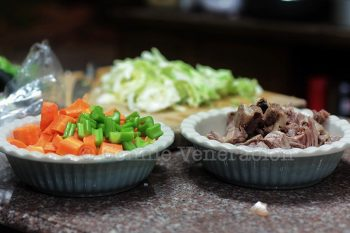 Lamb meat and vegetables