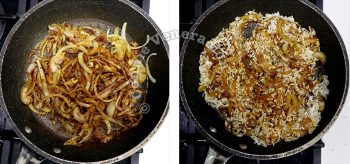 Sauteeing rice with spices