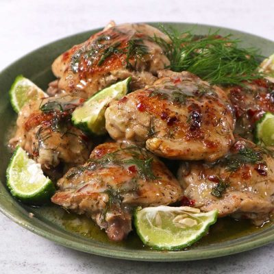 One-pan lime dill chicken
